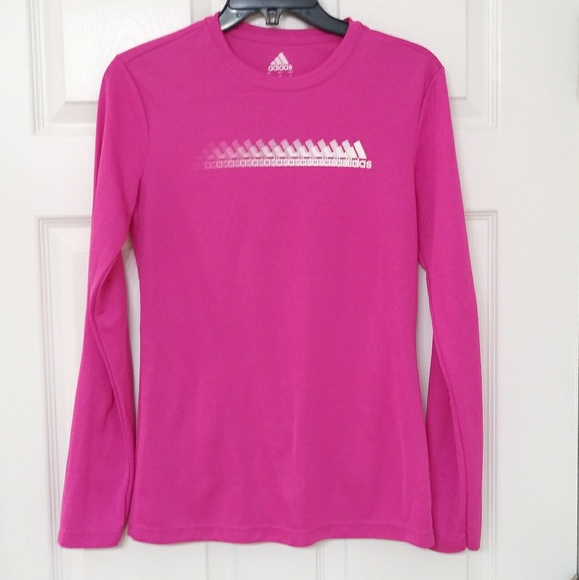 official images official site pretty cheap adidas Tops   Pink Sport Climalite Long Sleeve Top   Poshmark